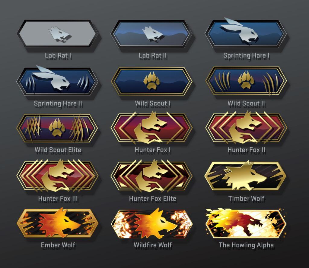 Grafika pokazująca rangi cs go w Danger Zone, nowym trybie Counter Strike